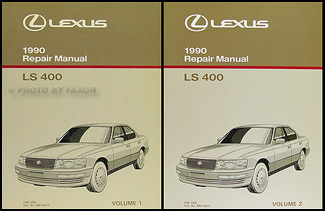 1990 lexus ls 400 repair shop manual original 2 volume set rh faxonautoliterature com 1996 Lexus LS400 Interior 1996 lexus ls400 owners manual