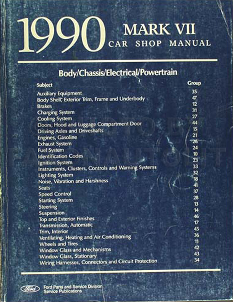 1990 Lincoln Mark VII Electrical and Vacuum Troubleshooting Manual – Ignition Wiring Diagram For A 1985 Lincoln Lsc