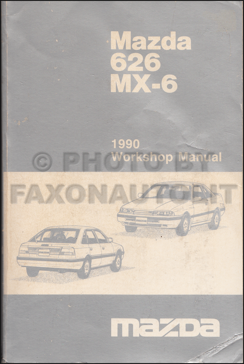 1990 Mazda 626 Repair Shop Manual Original