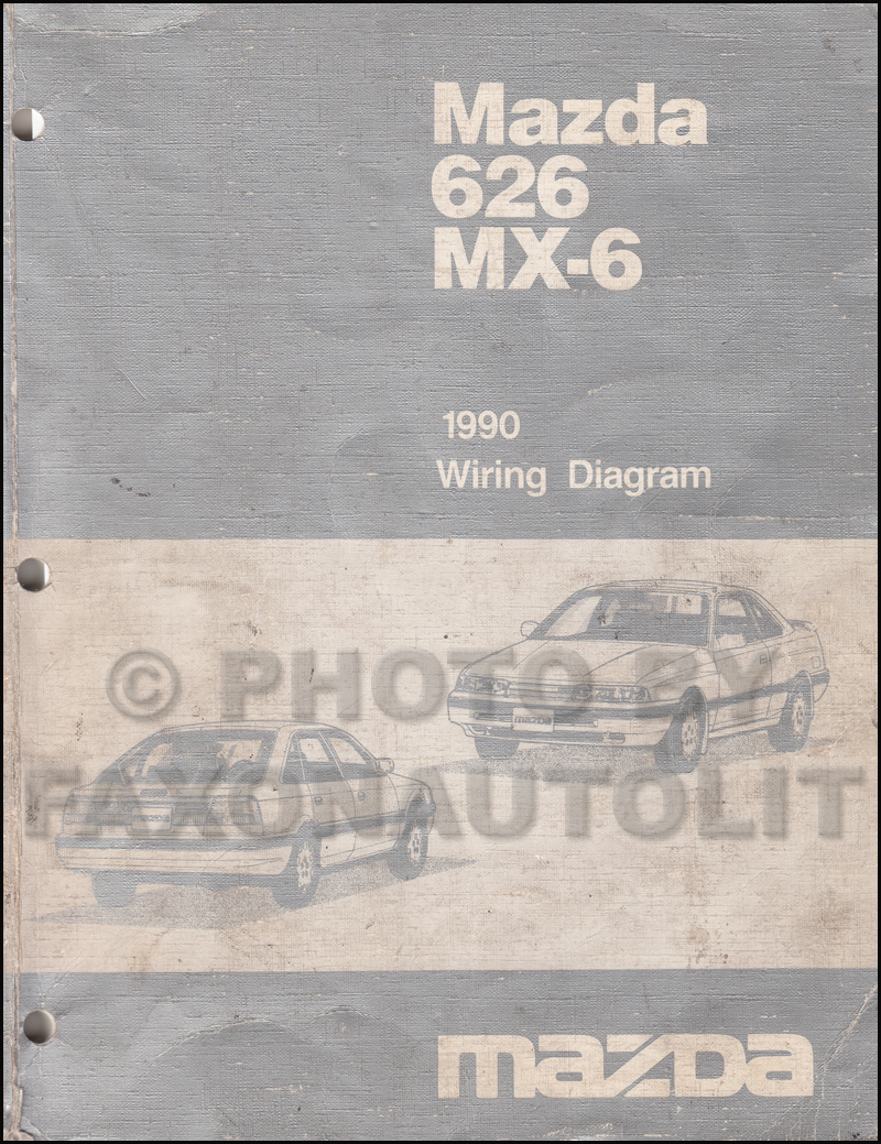 1990 mazda 626 and mx 6 wiring diagram manual original