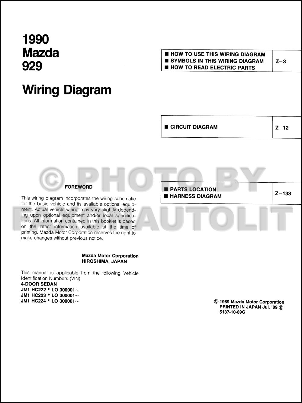 2004 mazda 6 wiring diagram free download mazda 929 wiring diagram 1990 mazda 929 wiring diagram manual original