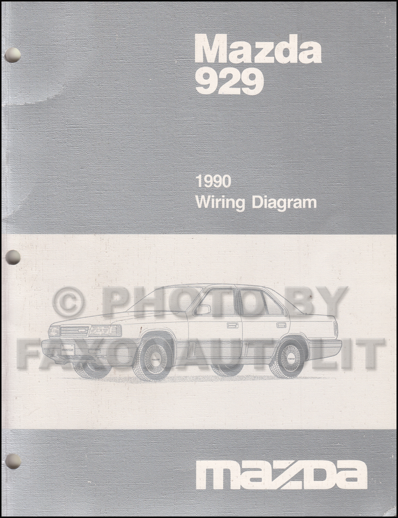 1990 Mazda 929 Wiring Diagram Manual Original