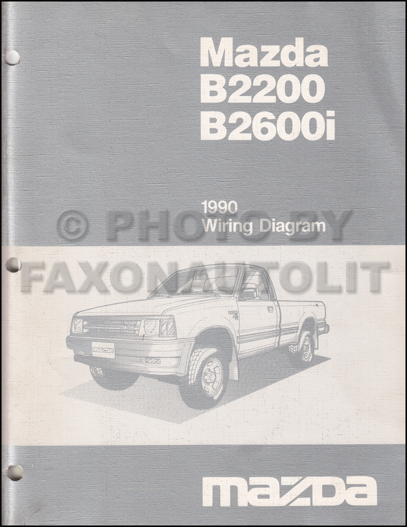 mazda b2600 service manuals shop owner maintenance and repair 1990 mazda b2600i b2200 pickup truck wiring diagram manual original