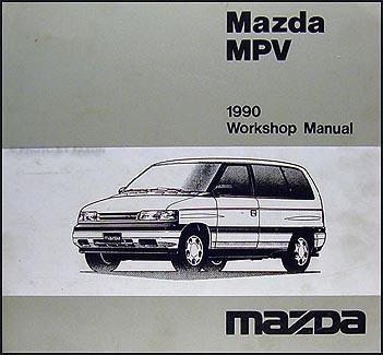 1990 Mazda Mpv Repair Shop Manual Original
