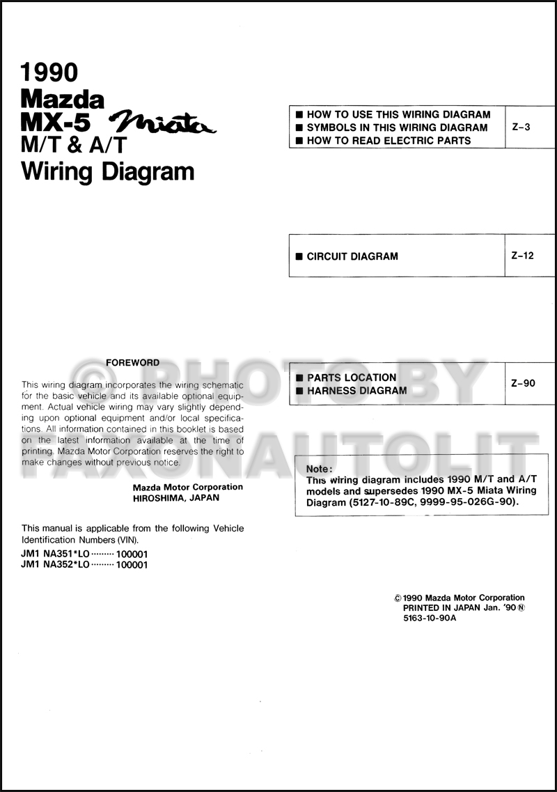 1990MazdaMX5MiataMTATOWD TOC 1990 mazda mx 5 miata wiring diagram manual original both miata wiring harness diagram at alyssarenee.co