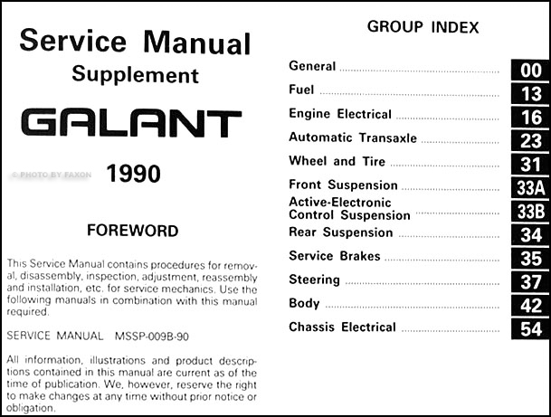 1990MitsubishiGalantORMS TOC 1990 mitsubishi galant awd automatic transaxle repair shop manual mitsubishi galant wiring diagram at gsmportal.co