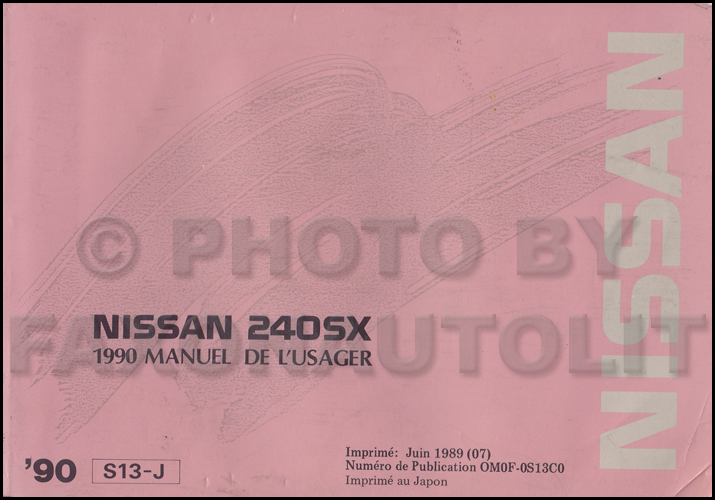 1990 Nissan 240sx Wiring Diagram Manual Original