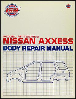 1990 nissan axxess body repair shop manual original rh faxonautoliterature com nissan axxess repair manual Nissan Prairie