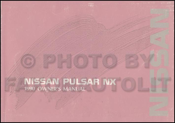 1990 Nissan Pulsar Nx Wiring Diagram Manual Original