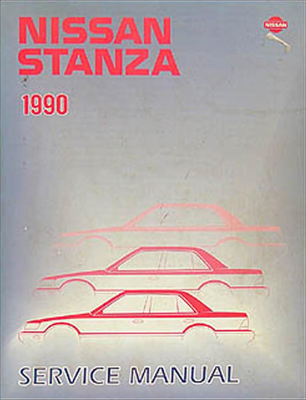 1990 Nissan Stanza Repair Manual Original
