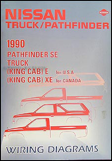 1990 nissan truck and pathfinder wiring diagram manual original 1990 Nissan Pickup Switch Driving Light