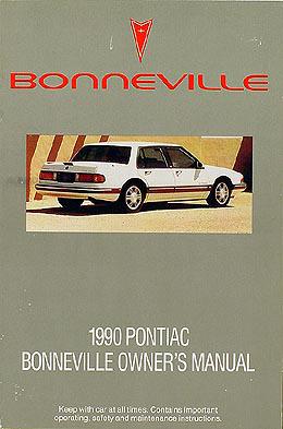 1990 pontiac bonneville original owner manual le se sse rh faxonautoliterature com 2007 Pontiac Bonneville 2001 Pontiac Bonneville