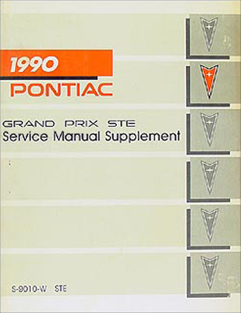 Image is loading 1990-Pontiac-Grand-Prix-STE-Shop-Manual-Supplement-