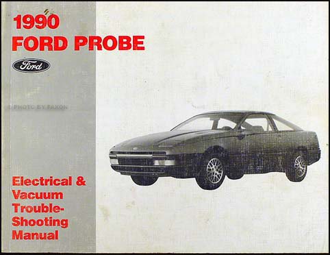 1990 ford probe factory foldout wiring diagram original 1990 ford probe electrical vacuum troubleshooting manual original