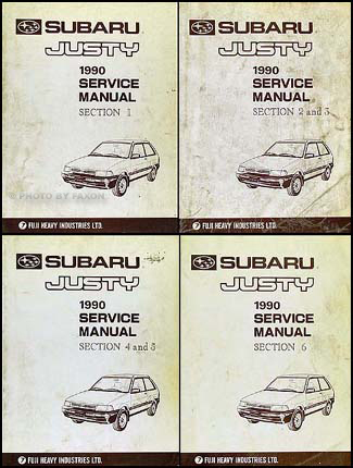 1990 subaru justy repair shop manual original set rh faxonautoliterature com 1994 Subaru Justy 1990 Subaru Justy Parts