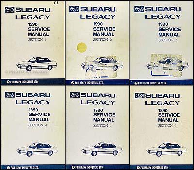 1990 subaru legacy repair shop manual supplement original. Black Bedroom Furniture Sets. Home Design Ideas