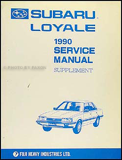 1990 subaru loyale repair manual original supplement