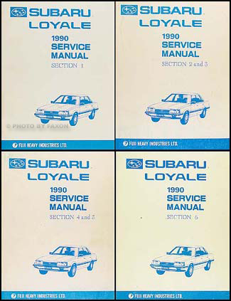 1990 subaru loyale repair shop manual original supplement rh faxonautoliterature com