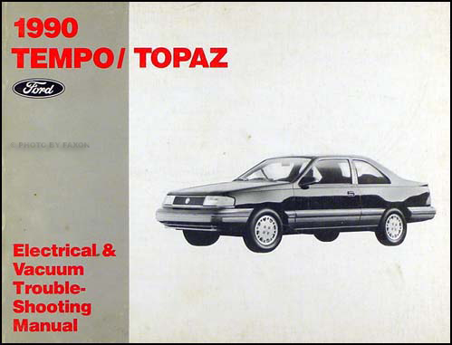 1990TempoTopazEVTM 1990 ford tempo mercury topaz electrical vacuum troubleshooting manual Ford Ignition Wiring Diagram at bayanpartner.co