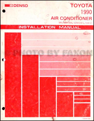 1990 Toyota 4runner Repair Shop Manual Set Original