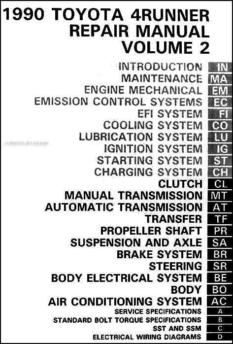 1990 toyota 4runner repair shop manual set original rh faxonautoliterature com 2006 toyota 4runner repair manual pdf 2006 toyota 4runner repair manual cam sensor