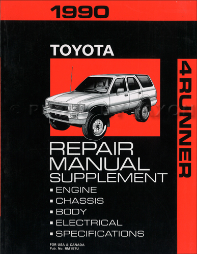 1990 toyota 4runner wiring diagram manual original 1990 toyota 4runner sr5 4wd repair shop manual supplement original