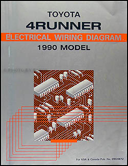 1990 toyota 4runner wiring diagram manual original. Black Bedroom Furniture Sets. Home Design Ideas