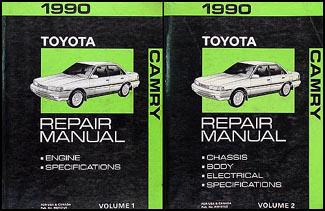 1990 toyota camry repair shop manual 2 volume set original rh faxonautoliterature com Interior for a 2008 Toyota Camry Manual 5 Speed 1990 toyota camry owners manual free download
