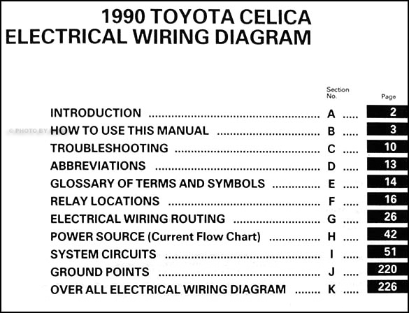 1990ToyotaCelicaWD TOC 1990 toyota celica wiring diagram manual original 2000 toyota celica gts stereo wiring diagram at eliteediting.co
