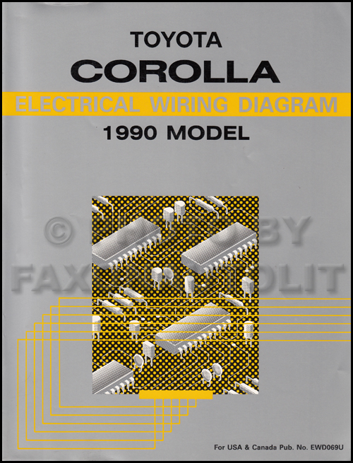 1990 toyota corolla wiring diagram manual original
