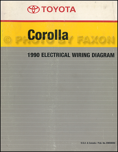 1990 Toyota Corolla Wiring Diagram Manual Factory Reprint