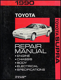 1990 toyota supra wiring diagram manual original 1990 toyota supra repair shop manual original 119 00