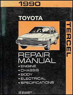 1990 toyota tercel wiring diagram manual original 1990 toyota tercel repair shop manual original