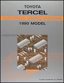 1990 Toyota Tercel Wiring Diagram Manual Original
