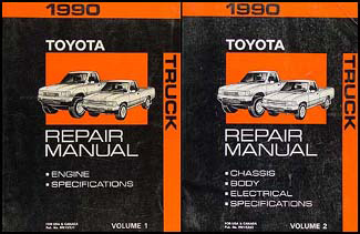 1990 Toyota Truck Repair Manual Set Original