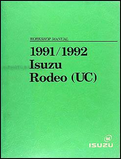 1991 1992 isuzu rodeo honda passport repair shop manual original rh faxonautoliterature com 1992 isuzu rodeo repair manual pdf 1996 Isuzu Trooper Manual Transmission Problems