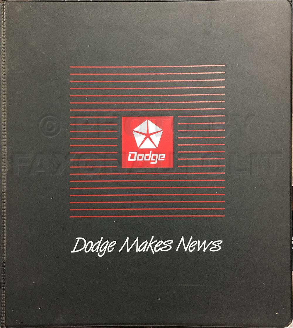 "1991-1993 ""Dodge Makes News"" Dealer Album Original Collection of Magazine Articles."