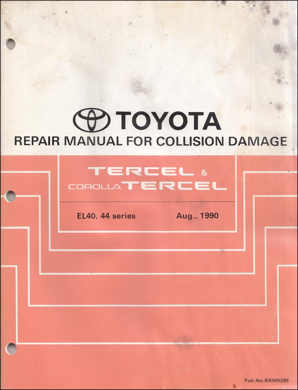 1994 Toyota Tercel Wiring Diagram Manual Original
