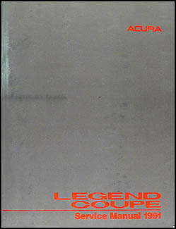 Acura Coupe on 1991 Acura Legend Coupe Repair Shop Manual Original