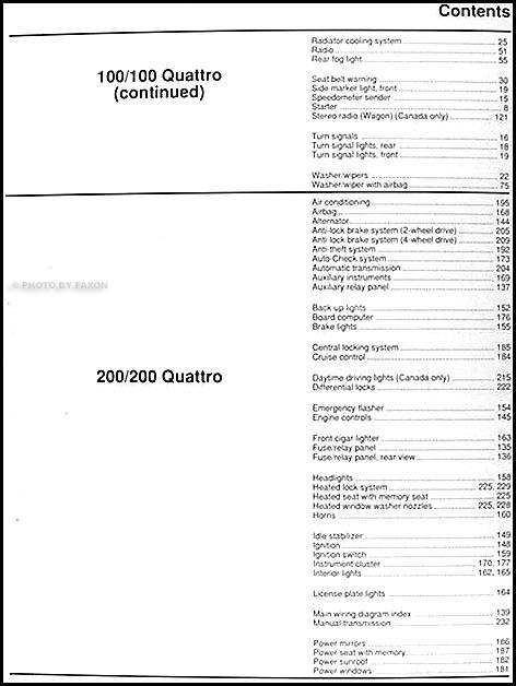 1991 audi 100, 200, and v8 quattro wiring diagram original defender 90 200tdi wiring diagram #6