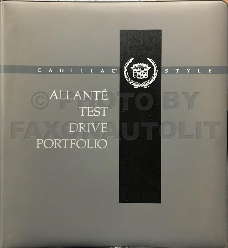 1991 cadillac allante test drive dealer album original rh faxonautoliterature com 12H802 Manual Parts Manual