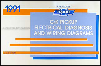 1991 chevy c k pickup wiring diagram manual original rh faxonautoliterature com 1991 chevy silverado 1500 wiring diagram 1991 Chevy S10 Wiring Diagram