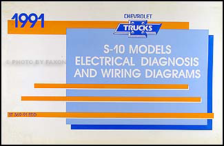 1991 Chevy S-10 Pickup & Blazer Wiring Diagram Manual Original