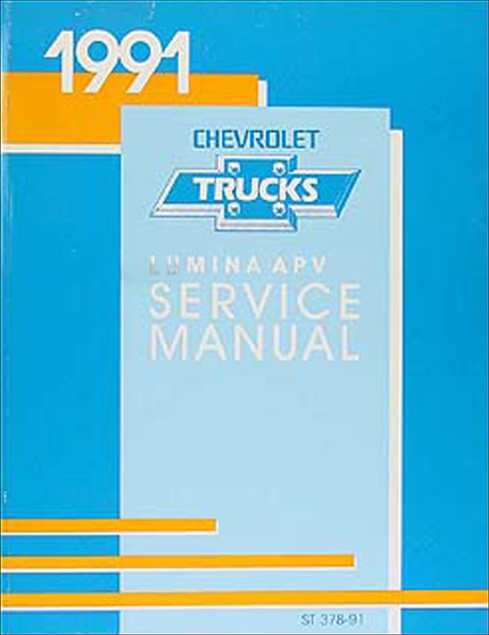 1991 Chevy Lumina Apv Minivan Repair Shop Manual Original 91 Wiring Diagram