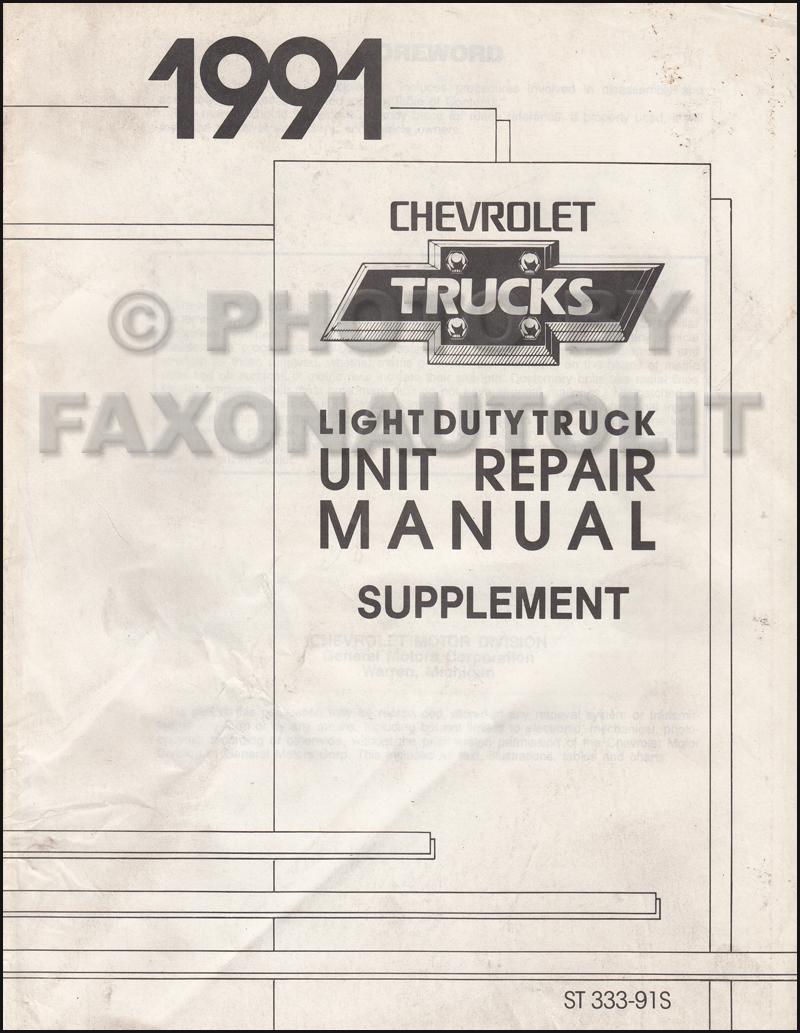 1983 Chevrolet Medium Duty Truck Unit Repair Manual Original