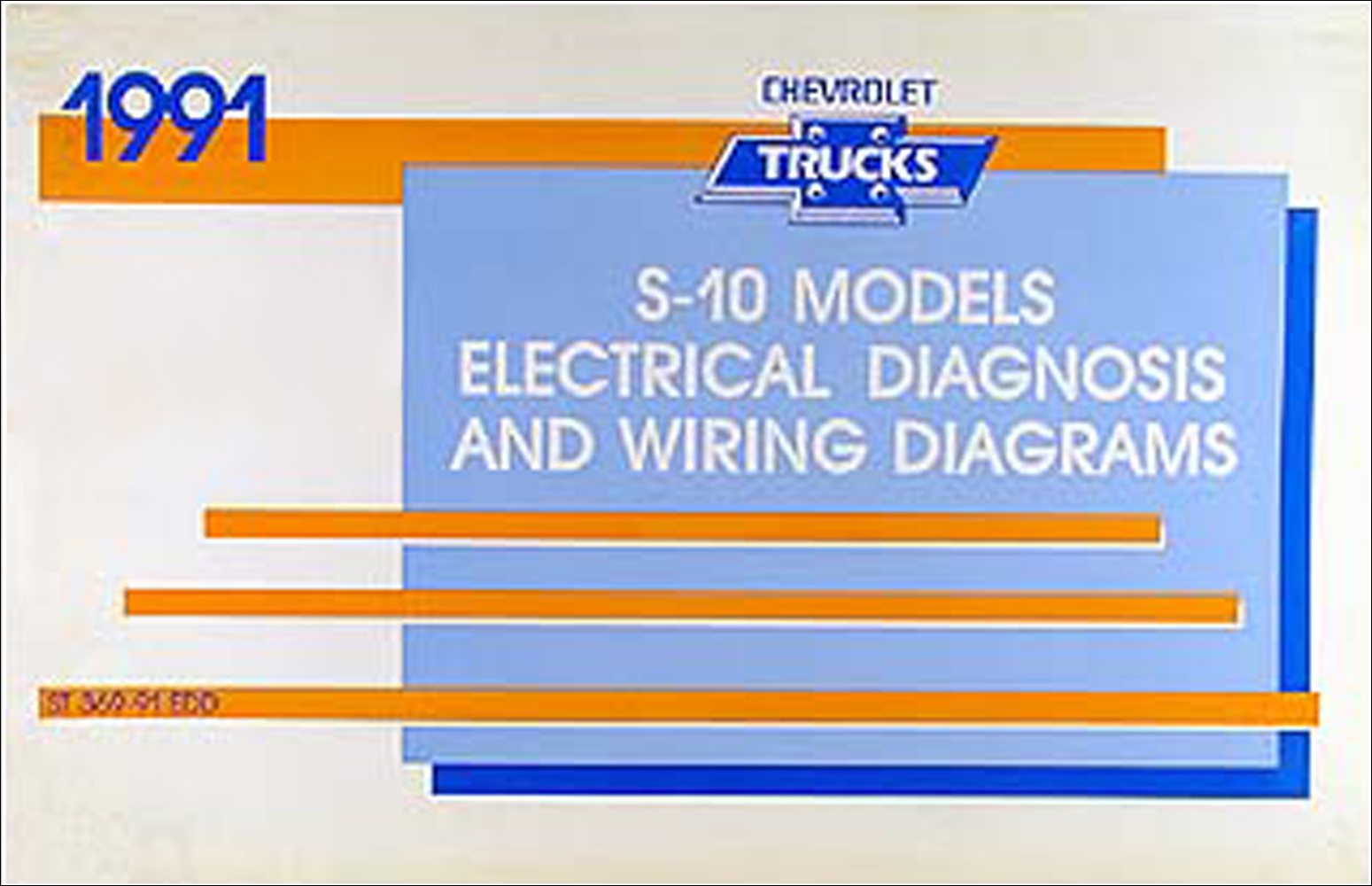 1991 Chevy S 10 Pickup Blazer Wiring Diagram Manual Original