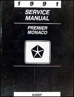 1991 Dodge Monaco & Eagle Premier Repair Shop Manual Original