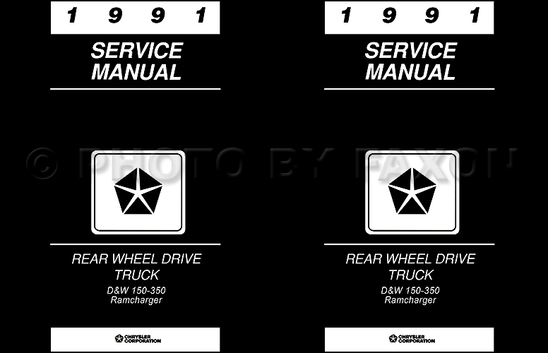 1991 Dodge Pickup Truck Repair Shop Manual D150 D250 D350 W150
