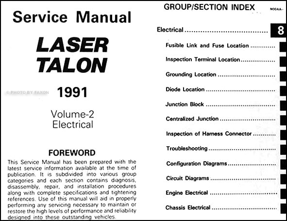 1991EagleTalonORM TOC2 plymouth laser audio wiring diagram plymouth wiring diagram for cars  at n-0.co