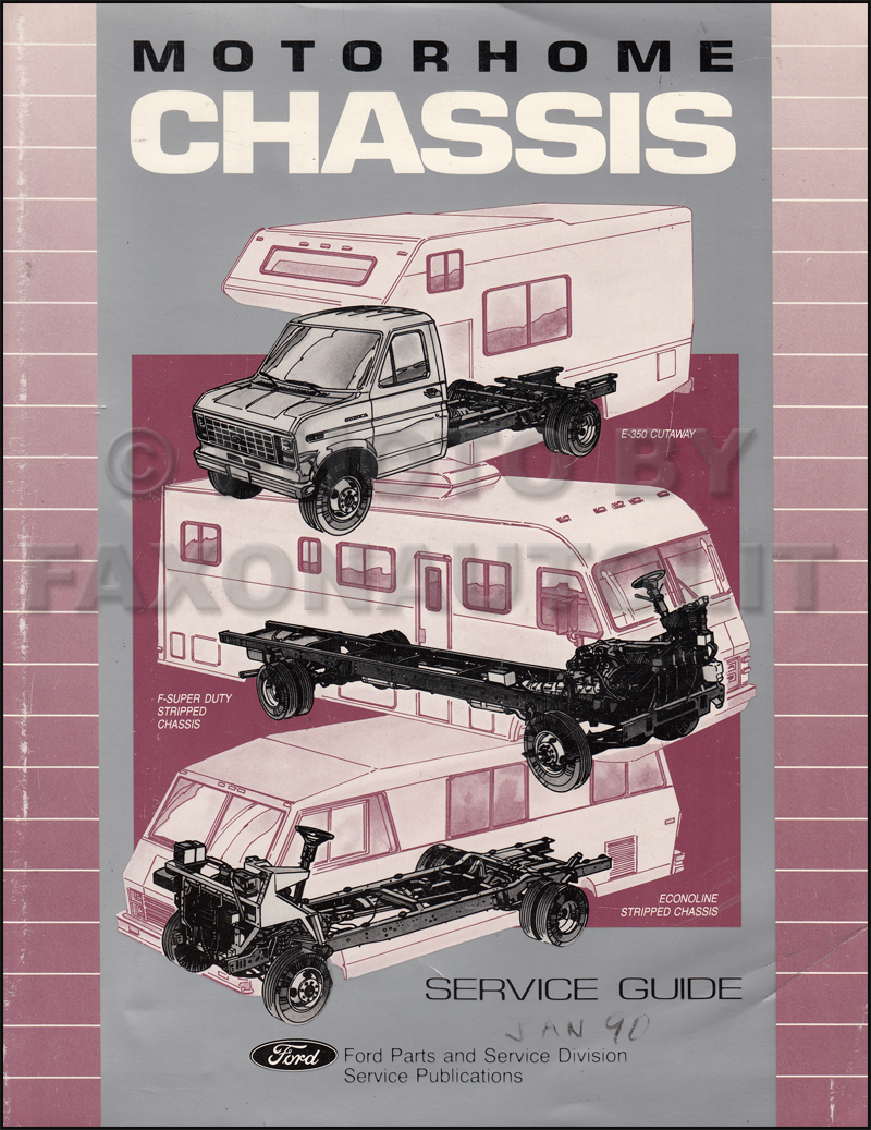ford f53 service manuals shop owner maintenance and repair faxon 1991 ford motorhome chassis service guide original